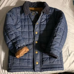 Awesome Navy Mini Boden quilted coat 4-5 years